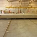 pre-cast slab for master suite